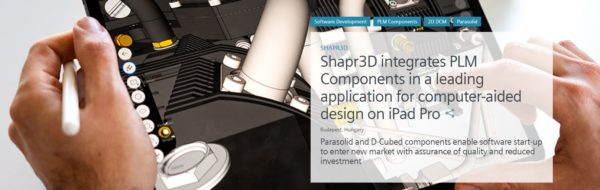 software startup Shapr3D/ PLM Components case study