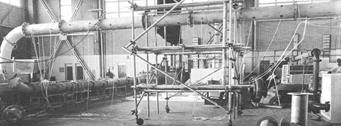 British Hydro Research Association (BHRA) test facility, ca. 1978