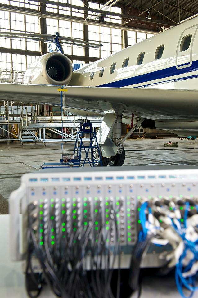 SCADAS measuring an airplane