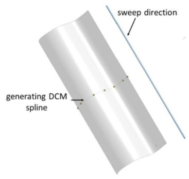 D-Cubed 3D DCM swept spline surface