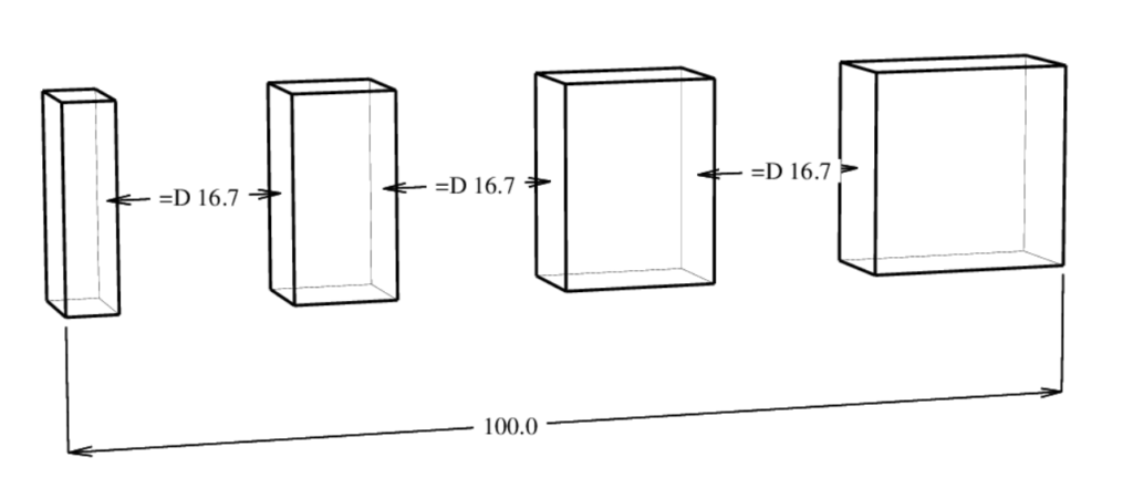 D-Cubed 3DDCM equal distance version 57