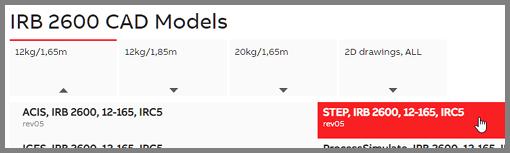 IRB 2600 CAD models