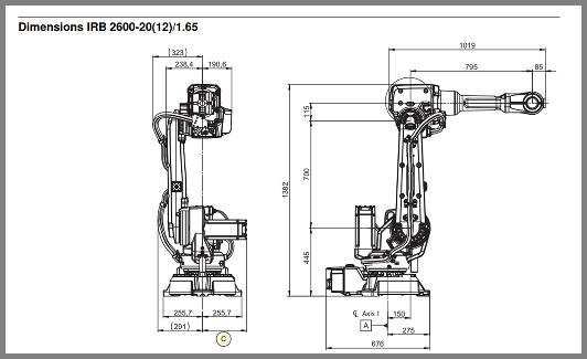 Building your robot - IRB 2600 spec sheet