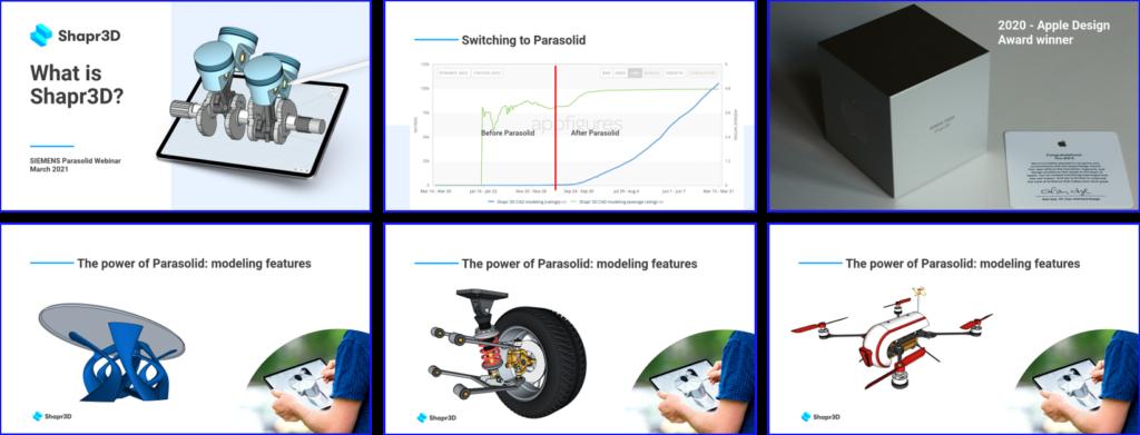 geometric modeling webinar - Shapr3D topics