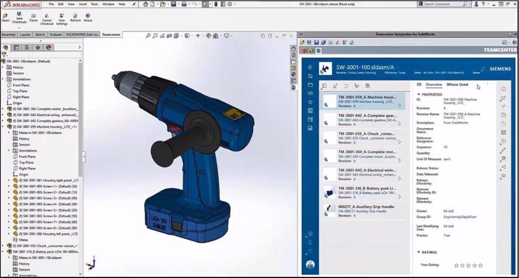 SolidWorks EPDM with Teamcenter