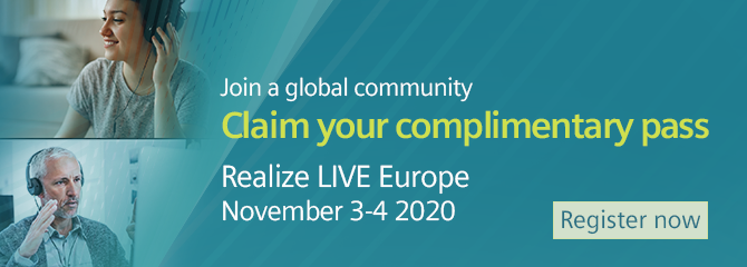 Register for Realize LIVE Europe 2020 Event.