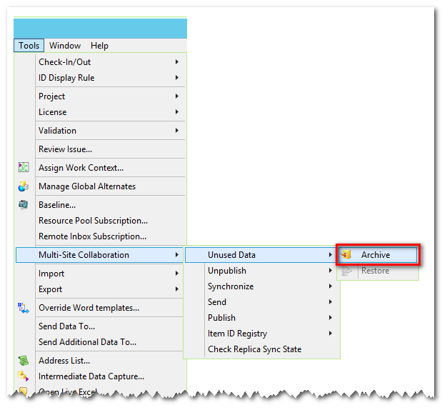 Near Line Archive completely removes product data – both database metadata and volume files – that is not expected to be needed anytime soon from a production Teamcenter instance.