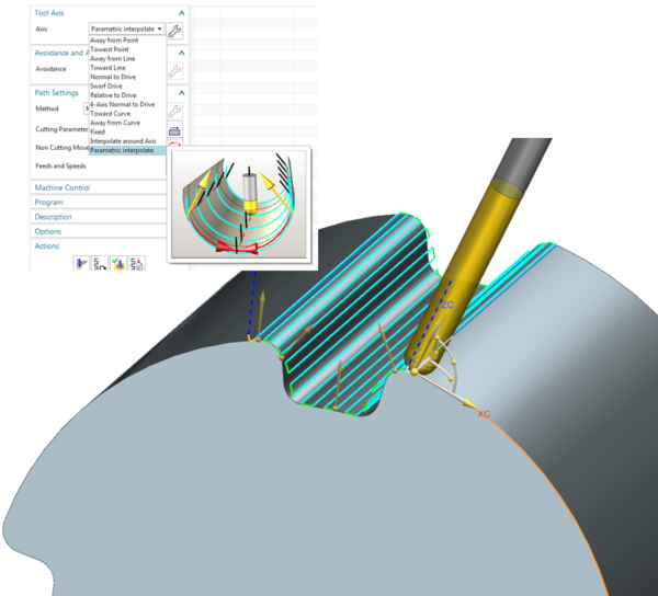 NX CAM - 5-Axis Finish Guiding Curves