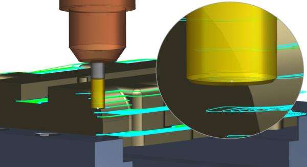 NX CAM - Adaptive Milling - chamfered tools