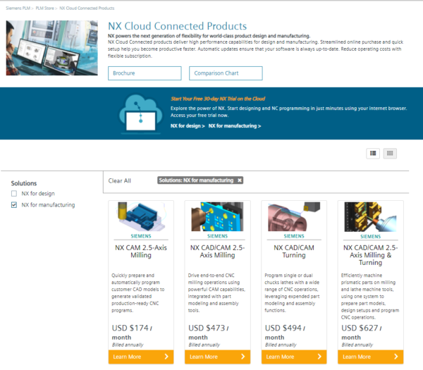 NX CAM Subscription Software Online Store