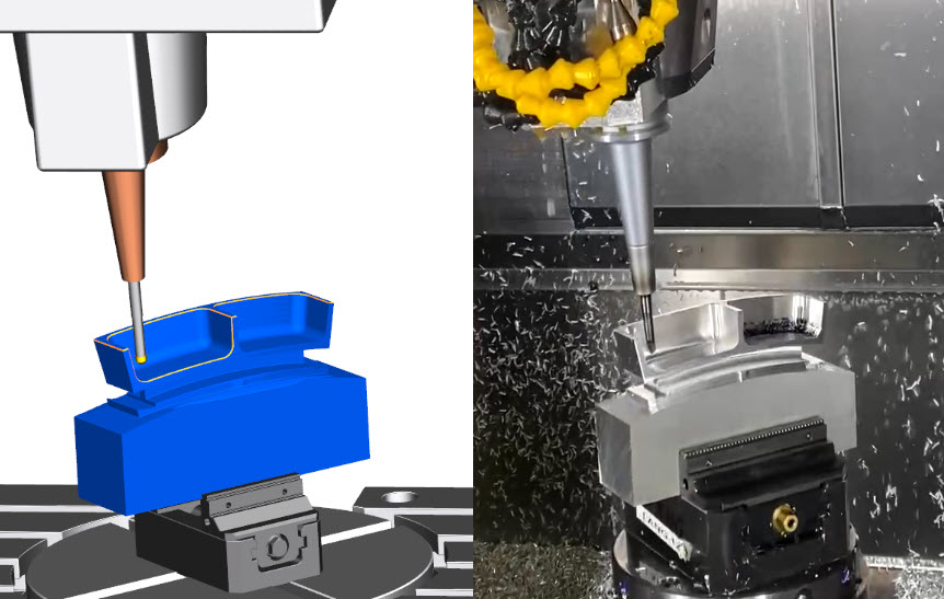 Multi-axis deburring in NX CAM with real world examples