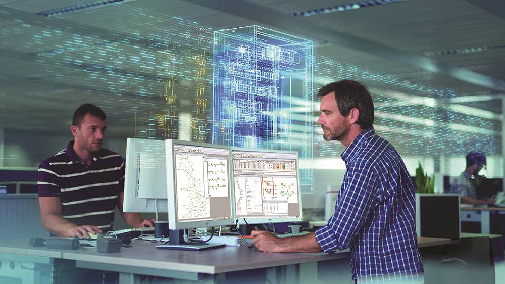 Machine efficiency and production, system simulation
