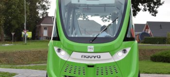 picture of self-driving Navya shuttle