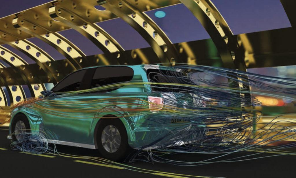 CFD simulation of car exterior