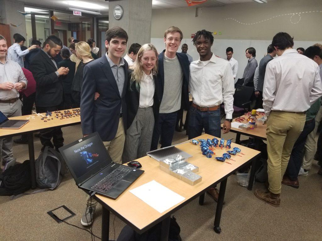 Students Jack Eichenlaub, Joyce D'Aprile, Jake Hullings, and Freesoul El Shabazz