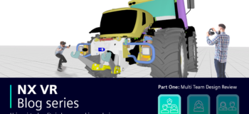 People stood next to a digital JCB with additional text