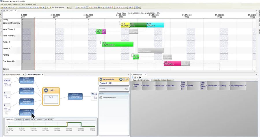 screenshot of Opcenter EPS software