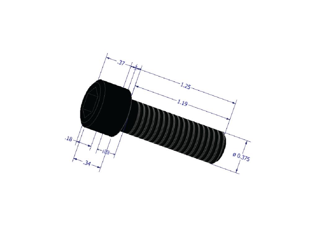 Industry-standard socket head cap screw.