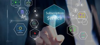 finger touching button on screen called subscription service