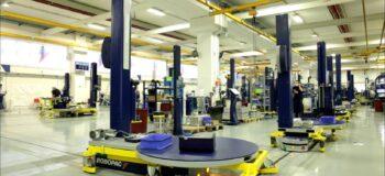 Image of Robopacs shopfloor. Robopac increased production capacity with Opcenter.
