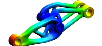 An optimized aerospace bracket