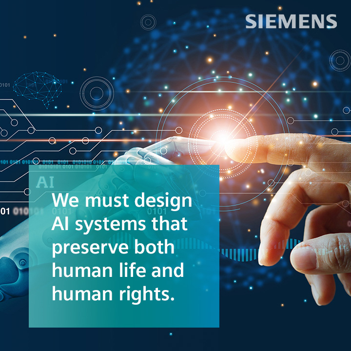 """Pull quote from the podcast episode which reads """"We must design AI systems that preserve both human life and human rights."""""""