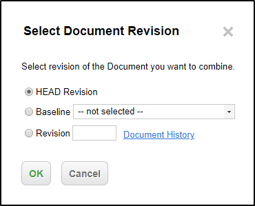 Select historical version of LiveDoc