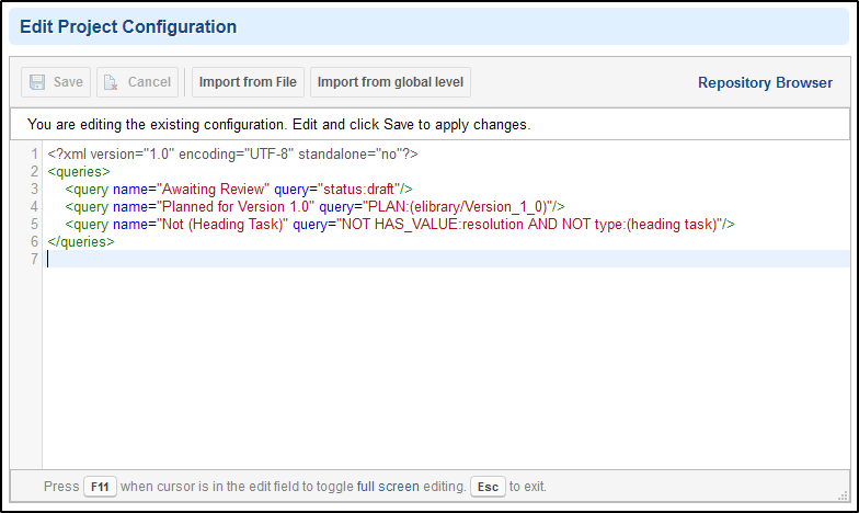 New XML editor in administration