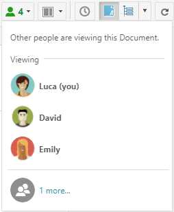 Collaborative Notification: Multiple users in the LiveDoc