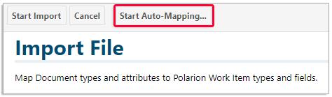 Start auto-mapping