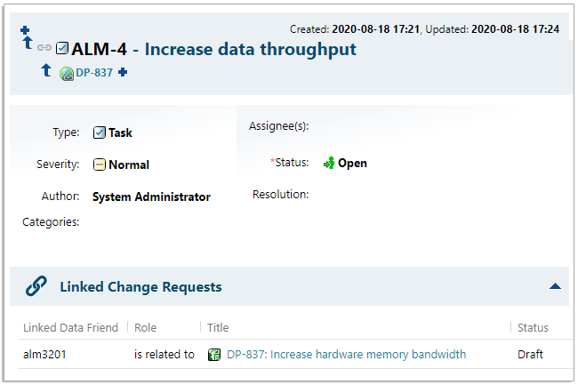 Display status from federated system