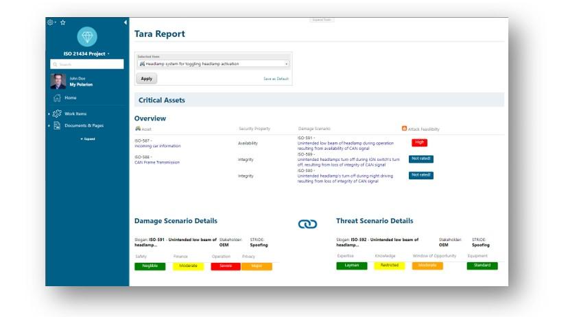 TARA report preview