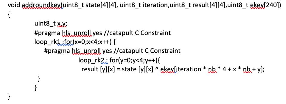Catapult Pragma Location Code Snippet