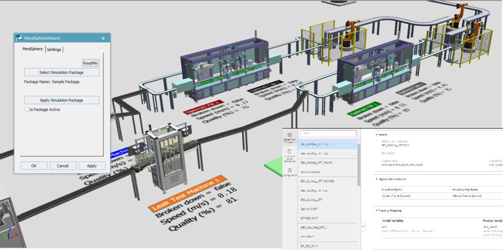MindSphere Closed-Loop Discrete Events Simulation with Siemens' Tecnomatix Plant Simulation
