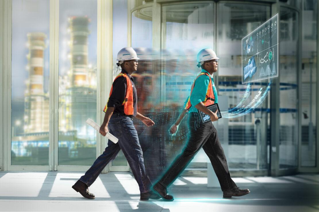 Manufacturers in hallway