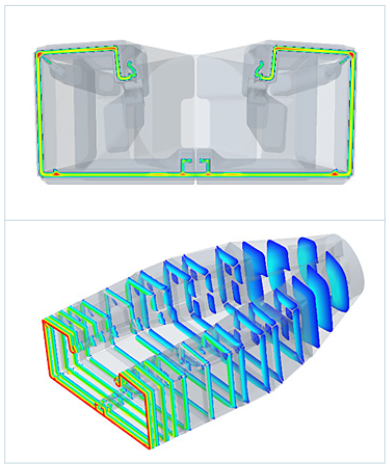 Extrusion tool design at Hager Group.