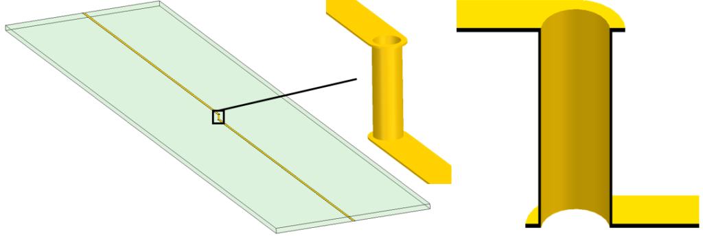 Trace and via geometry