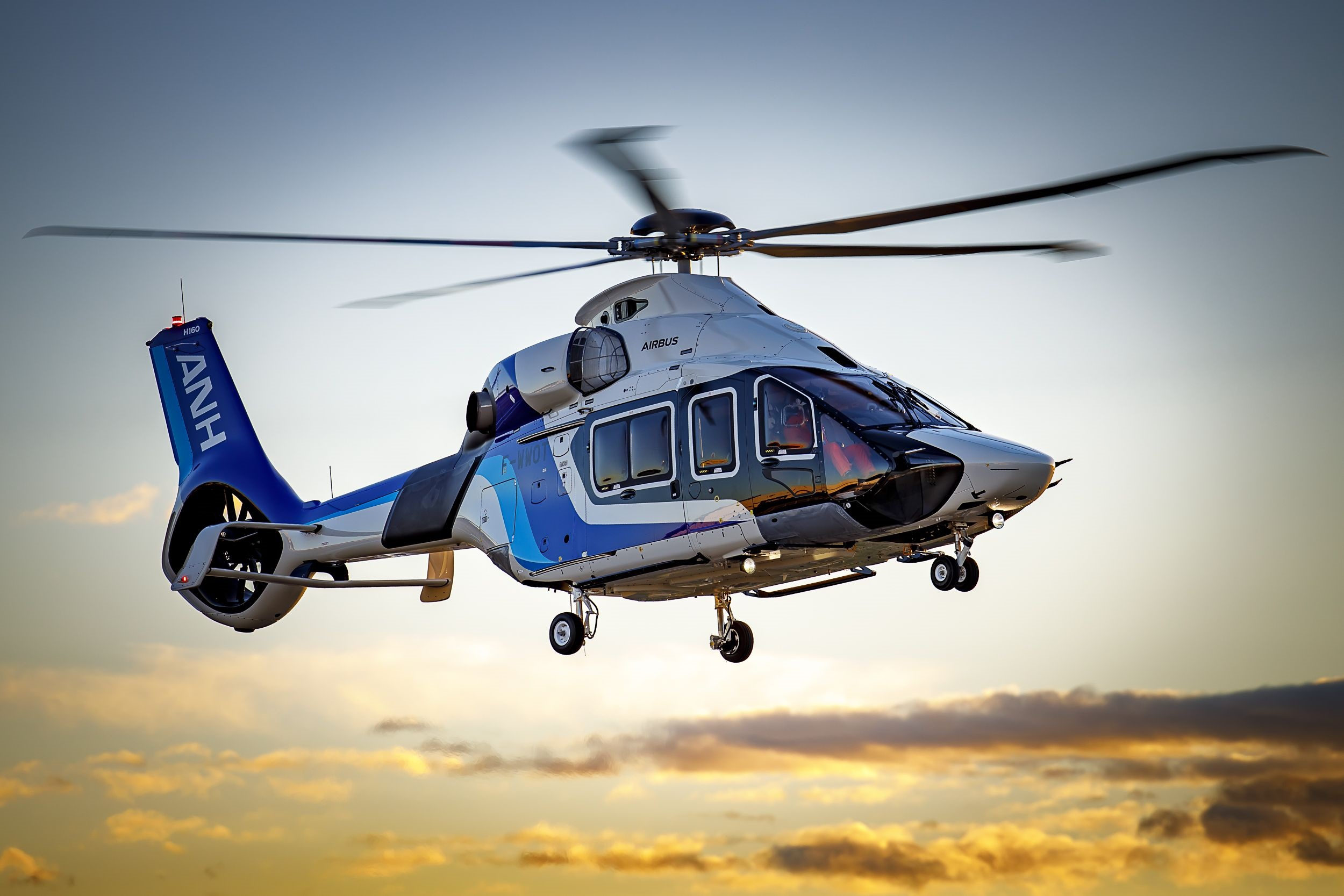 The Airbus Helicopters H160 ANH on its first flight