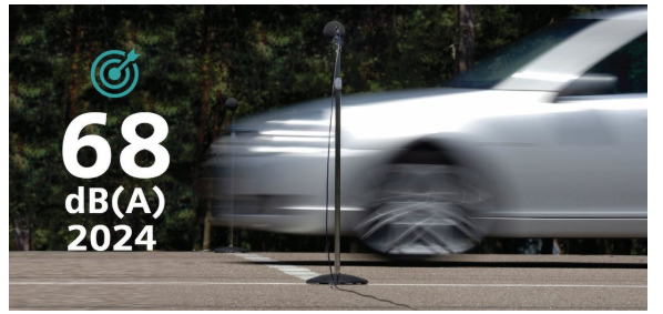 Vehicle pass-by noise target for near future
