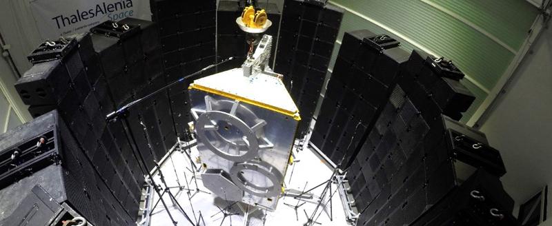 Direct Field Acoustic Noise (DFAN) innovative spacecraft acoustic testing method.jpg
