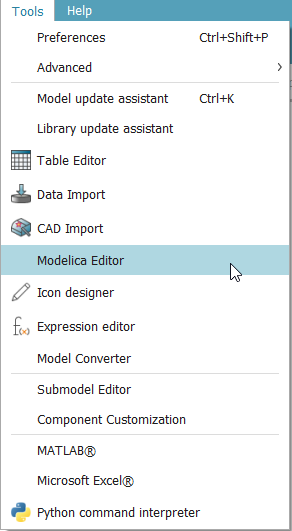Modelica Editor.png