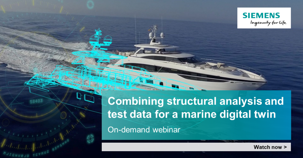 webinar combining structural analysis and test data for a marine digital twin