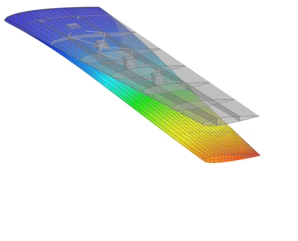 Simulation of an aircraft wing for GVT and flutter certification