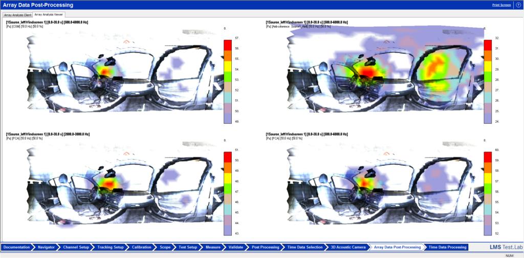Simcenter Testlab 3D Acoustic Camera -  acoustic heat map