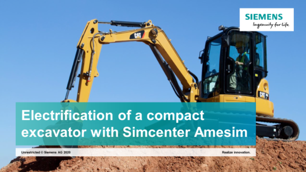 Electrification of a 3.5 tons excavator with Simcenter Amesim
