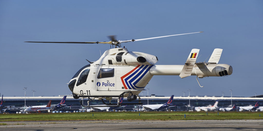 The Belgian Federal Police helicopter