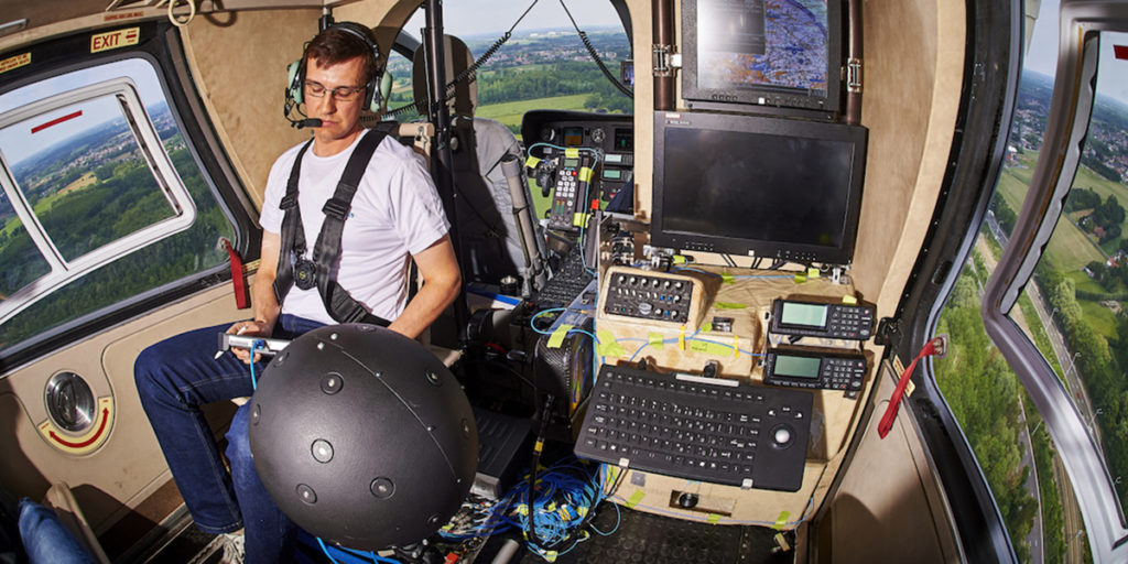 Simcenter Testlab 3D Acoustic camera - Helicopter cabin noise measurements