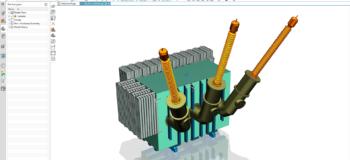 Simcenter 3D model of A 150 MVA Transformer