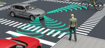 Electric vehicle warning sounds for pedestrians and bikers in quieter traffic soundscapes.