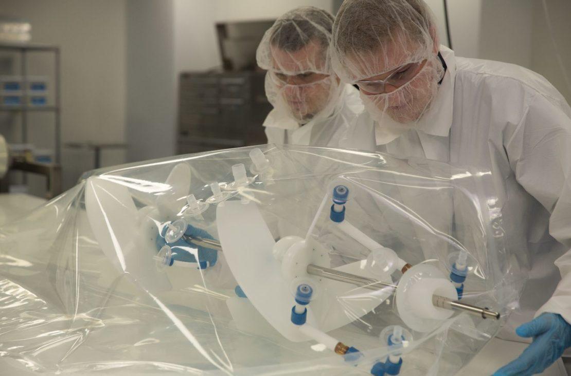 ABEC engineers configure a custom bioreactor.